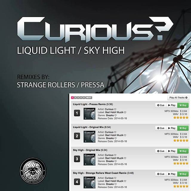 DJ CURIOUS  Liquid Light Album Cover