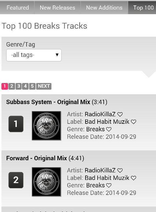Radiokillaz #1 top 100 breaks