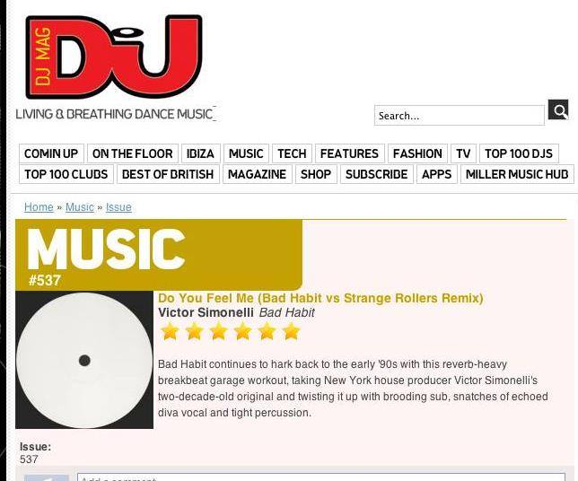 Victor Simonelli DJ MAG Review